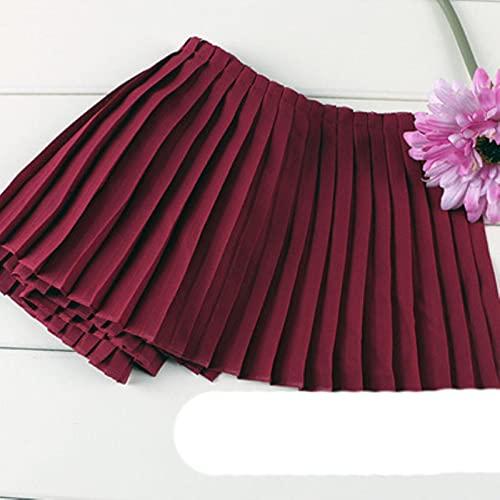 2 m / lote plisados de organo de gasa rosa gris azul marino negro blanco encaje puño escote vestido plisado ropa de encaje material de tela Z157-vino rojo 17cm