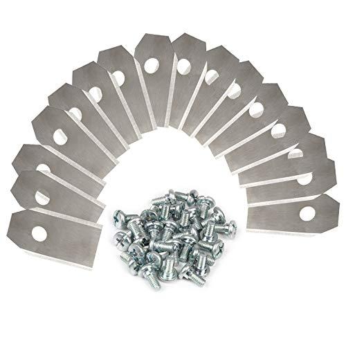 Cuchilla Automower para todos los cortacésped Husqvarna Automower / Gardena - (3 g - 0,75 mm) + 30 tornillos, cuchillas de repuesto para 105, 310, 315, 320, 420, 430x, r40i, etc.