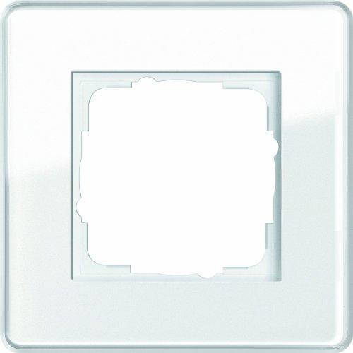 Gira 0211512 Abdeckrahmen 1 Fach Esprit Glas C, weiß