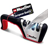 Mueller Original Premium Knife Sharpener, Heavy Duty 4-Stage Diamond Really Works for Ceramic and Steel Knives, Scissors. Easily Restores Dull to Sharp