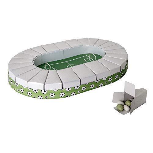 Publilancio srl Tarta Estadio Campo de fútbol de 32x 45cm con 24Cajas para peladillas