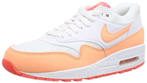 Nike Damen Air Max 1 Essential Laufschuhe, Weiß (White/Sunset Glow-Hot Lava 114), 38 EU