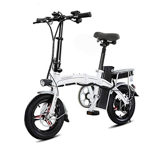 Bicicleta Eléctrica Plegable Adulto De peso ligero plegable de aluminio E-Bici con...