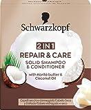 Schwarzkopf Schwarzkopf - Champú + Acondicionador Sólido 2 en 1 Repair&Care - 60g - Suaviza y cuida la estructura del cabello para un aspecto sano - 60 g