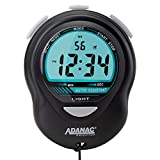 Marathon Adanac Digital Glow Stopwatch Timer | Blue Backlight Large Display | Water Dust and Shock Resistant | for Teachers Fitness Sport Coaches