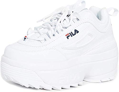 Fila, Disruptor II Wedge, Scarpe da ginnastica da donna, Nero (nero/rosso/bianco), 39 EU