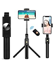 doosl Bastone Selfie Bluetooth, Selfie Stick Monopiede, Mini Estensibile 3 in 1 Selfie Stick Treppiede con Telecomando Wireless per Smartphone