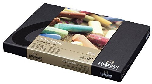 Rembrandt Pastel sec : 60 Assorted 1/2 Stick Cardboard Box Set