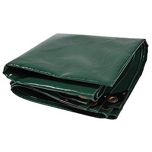 Nemaxx Lona de protección PLA32 Premium 300 x 200 cm; Verde con Ojales, PVC de 650 g/m², Cubierta, Lona de protección. Impermeable y a Prueba de desgarros, 6m²