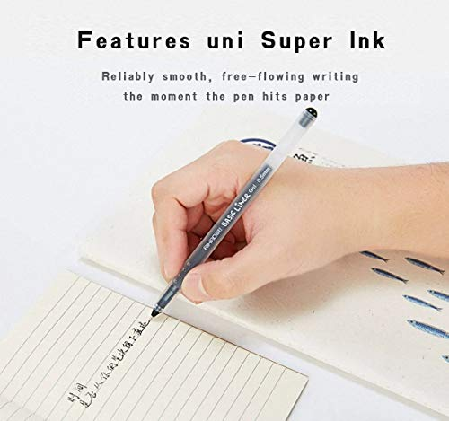 Liquid Ink Rolling Ball Stick Pens Gel Ink Black Pens Ink Fine Point Rollerball pen, School and office Use Smooth Skip-Free Writing,Smooth fine writing pens, Visible Ink Supply (0.5mm) (12-Pack) Photo #3
