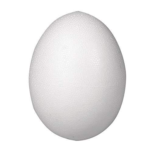 Rayher 3309600 Styropor-Ei , voll, Höhe 12 cm