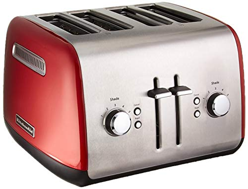 KitchenAid KMT4115ER Toaster with Manual High-Lift Lever, Empire Red (Renewed)
