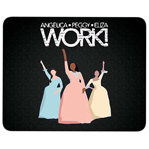 Angelica Eliza Peggy Work Non-Slip Rubber Base Mousepad for Laptop, Computer & PC, Alexander Hamilton Musical Mouse Pad(Mouse Pad - Black)