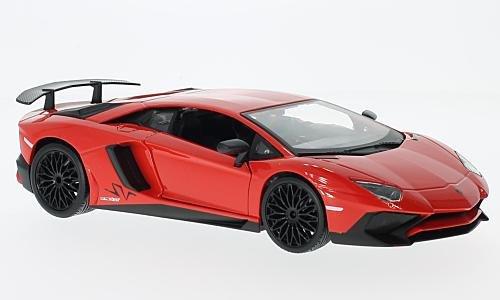 Lamborghini Aventador LP750-4 SV, hellrot, 0, Modellauto, Fertigmodell, Bburago 1:24