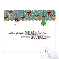 また、再び甘いキャンディの激しい日がスローガン ゲーム用スライドゴムのマウスパッドクリスマス
