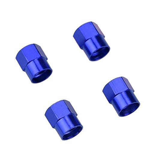 FOORDAY Tapas de válvula de neumático de Coche Coloridas para Llantas de Coche, Tapas de válvulas de Rueda, Accesorios a Prueba de Polvo para Auto (4 Unidades)