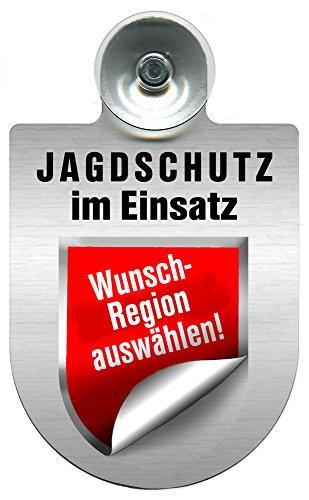 Einsatzschild Windschutzscheibe incl. Saugnapf - Jagdschutz im Einsatz- 309368- -incl. Regionen nach Wahl Farbe Region Hessen