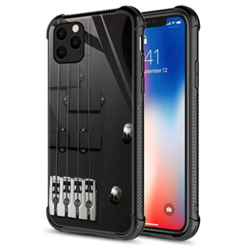Compatible with iPhone 12 Pro Max Case,Guitar Bass Guitar Strings iPhone 12 Pro Max Cases,Fashion Graphic Design Shockproof Anti-Scratch Case for Apple iPhone 12 Pro Max