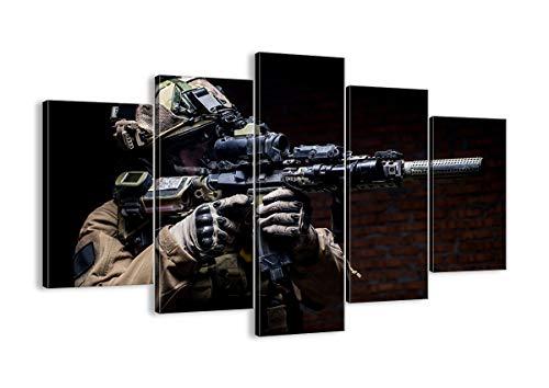 Bild auf Leinwand - Leinwandbilder - fünf Teile - Breite: 150cm, Höhe: 100cm - Bildnummer 3785 - fünfteilig - mehrteilig - zum Aufhängen bereit - Bilder - Kunstdruck - EA150x100-3785