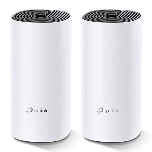 TP-Link Deco M4 Whole Home Mesh Wi-Fi System, Seamless Roaming and Speedy (AC1200), Work with Amazon Echo/Alexa, Router and Wi-Fi Booster, Parent Control Router, Pack of 2