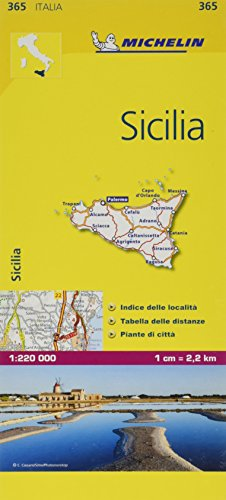 Mapa Local Italia Sicilia (Mapas Local Michelin), 1:220.000