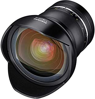 Samyang SYXP14-C XP 14mm f/2.4 High Speed Wide Angle Lens for Canon EF with Built-in AE Chip, Black