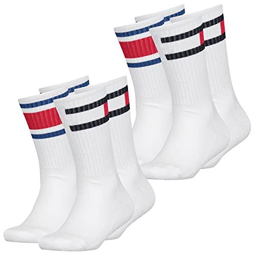 Tommy Hilfiger Kinder Socken Flag 4er Pack, Größe:39-42, Farbe :White (300)