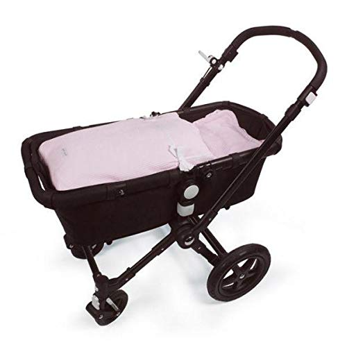 Pasito a Pasito. Saco Cuco Nido. Saco de dormir uso universal para Grupo 0. Pieza 3 en 1 ideal para cubrir el carrito, portabebé y silla de paseo. Incluye almohada. Color Rosa.