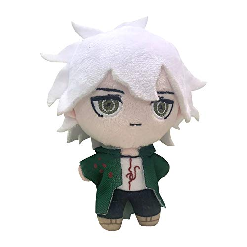 Plush Toy Nagito Komaeda Plush Anime Character Doll Soft Stuffed Collectible Figure Toy Decorations Halloween Birthday Party Kids Gifts 13cm/ 5.2in