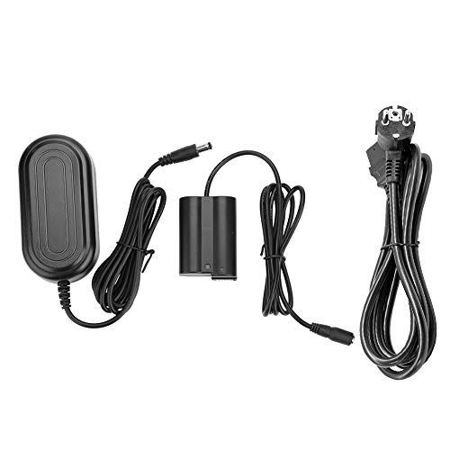 Tosuny El acoplador DC EP-5B de batería simulada EN-EL15 se Adapta a Nikon D600 D610 D750 D7000 D7100 D7200 D800 D810 D500 y más cámaras, 100-240V/50-60Hz, 100% Nuevo(Enchufe de la UE)