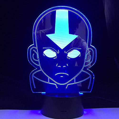 Acrylic Led Night Light Desk 3D Lamp Avatar The Last Airbender For Kids Child Bedroom Decor Nightlight