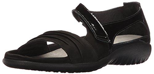 Naot Footwear Women's Papaki Sandal Black Patent Lthr Combo 8 M US