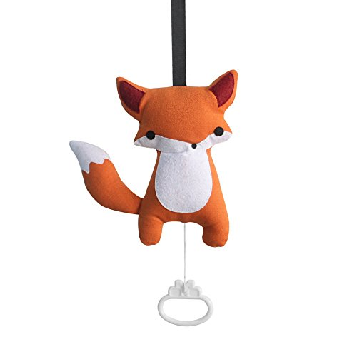 Boîte à musique pull-string exquise bébé accroché boîte à musique [fox]