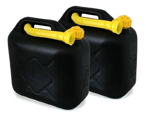 AD Tuning Kunststoff Kanister, 2er Set, Volumen: je 10 Liter (Lieferung ohne Inhalt) Inkl. Ausgieser - Schnorchel.