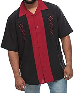 Fuse Big and Tall Short Sleeve Dress Shirt for Men
