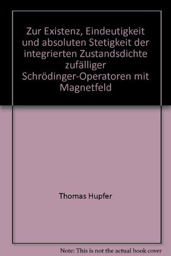 Zur Eistenz, Eindeutigkeit und absoluten Stetigkeit der integrierten Zustandsdichte zufälliger Schröderinger-Operatoren mit Magnetfeld