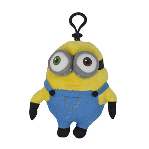 Accessory Innovations Despicable Me - Bob Two Eye Minion 5-inch Plush Coin Clip Key Chain Toy Bag