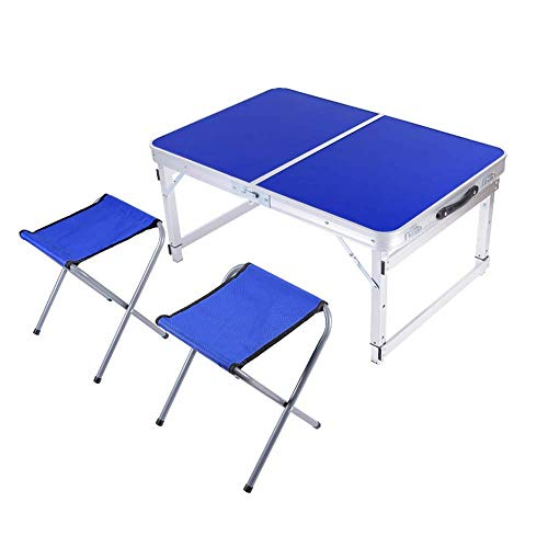 N/Z Daily Equipment Folding Table Adjustable Portable/Take up No Space/Small Folding Dining Table Chair/Square Suitcase 4 Colors B