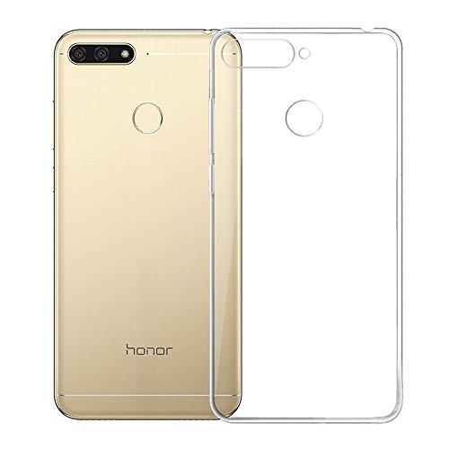 REY Funda Carcasa Gel Transparente para Huawei Honor 7A / Y6 Prime 2018, Ultra Fina 0,33mm, Silicona TPU de Alta Resistencia y Flexibilidad