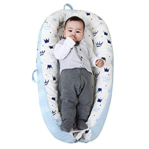 Portable Baby Nest Lounger Baby Bedside co Sleeper Bed Bassinet Mattress, Super Soft Cotton,Newborn Shower Gift Essentials