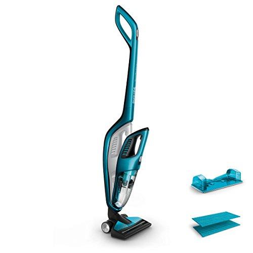 Philips FC6404/01 PowerPro Aqua 3-in-1 Akku und Handstaubsauger mit Wischfunktion, 0,6 L, türkis/blau