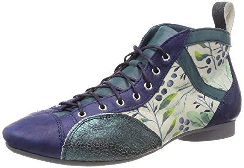 Think! Damen Guad_484288 Desert Boots, Blau (Petrol/Kombi 92), 40 EU