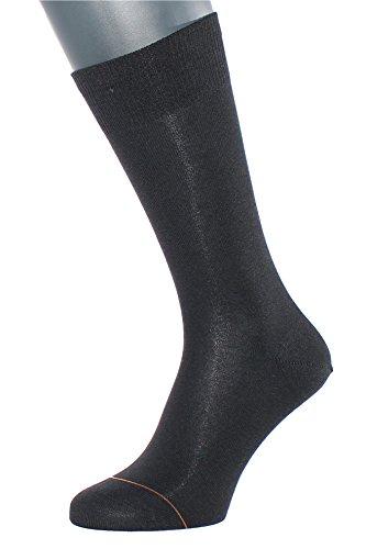 Albert Kreuz Business Herren-Socken aus Baumwolle mit Cashmere/Kaschmir-Innenseite schwarz 1 Paar Gr. 42-44