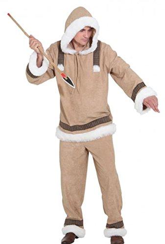 Orlob PARTY DISCOUNT ® Herren-Kostüm Eskimo Mann de Luxe, Gr. 50-52