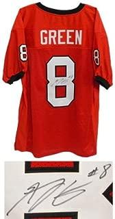 A.J. Green Signed Jersey - A J. (AJ Red Custom Stitched #8 XL Hologram - JSA Certified - Autographed College Jerseys