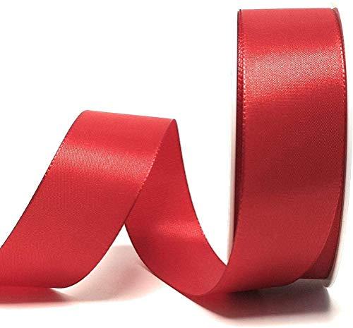 Schleifenband Dekoband 50m x 40mm ROT Weihnachtsband