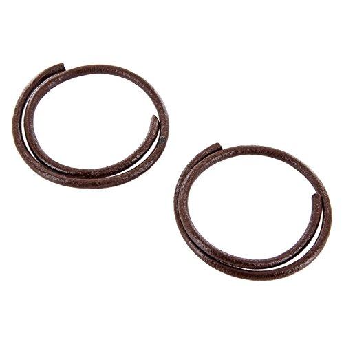 REMA 1 Paar Ledersenkel - rund - Ø ca. 3,0 mm von 20 cm - 200 cm in verschiedene Farben (140 cm, Braun)