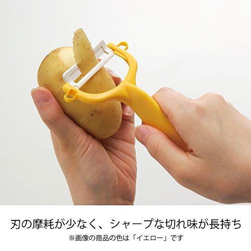 『京セラ ピーラー ファイン セラミック サビない 除菌 漂白 OK 切れ味 長持ち イエロー 日本製 Kyocera CP-99 YL』の3枚目の画像