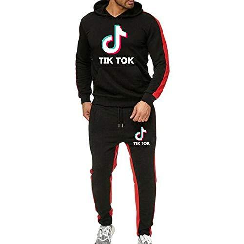 JIAOJIA Mädchen Tik Tok Hoodies Unisex Sweatshirt Kleidung Sets Pullover Anzug Hoody + Hose L.