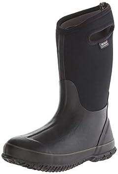 Bogs Kid s Classic High Waterproof Insulated Rubber Neoprene Rain Boot Black 7 Big